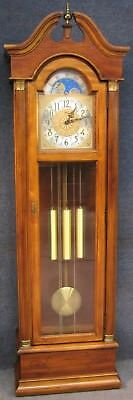 Ridgeway Brass Dial Longcase Grandfather Clock With Westminster Chime Movement