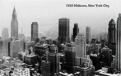 134671 New York City Mid-town 1932 cityscape Decor WALL PRINT POSTER UK