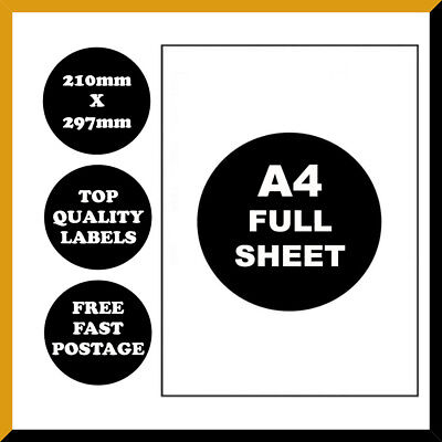 [Full Page] A4 Self Adhesive Address Labels Paper Sheet Print Mailing Sticker