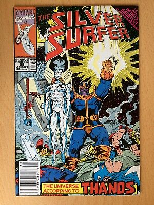 Silver Surfer 55, Sept 1991, an Infinity Gauntlet crossover - Very good conditio