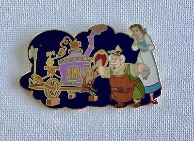 Disney Auction Pin Belle And Maurice With Contraption