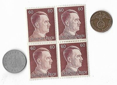 Rare Very Old German WWII WW2 Germany Coin Stamp Great War Collection Lot US/255
