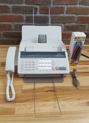 BROTHER INTELLIFAX Telephone 1270 Plain Paper Fax Machine Copier W/New Cartridge