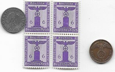 Rare Very Old German WWII WW2 Germany Eagle Coin Stamp Great War Collection I13