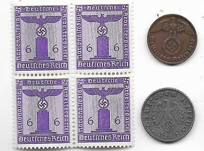 Rare Old German WWII WW2 Germany Eagle Coin Stamp Great War Collection LOT:I20
