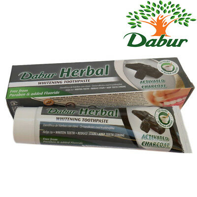 Dabur Herbal Whitening Toothpaste with Activated Charcoal 100ml