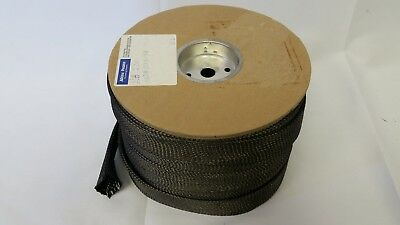 "A&p 2"" Braided Carbon Fiber Sleeve - 5 Yards, Hexcel As4C 6K Tow"