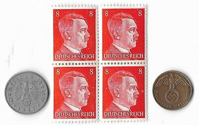 Rare Very Old German WWII WW2 Germany Coin Stamp Great War Collection Lot US/T16