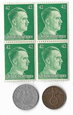 Rare Very Old German WWII WW2 Germany Coin Stamp Great War Collection Lot US/T26