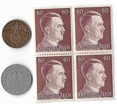 Rare Very Old German WWII WW2 Germany Coin Stamp Great War Collection Lot US/T28