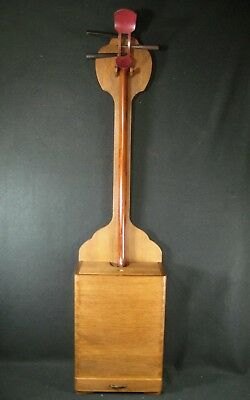 Japanese Antique 1 Drawer Paulownia Wood Shamisen Instrument Stand Tansu Chest