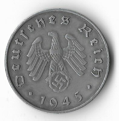 EXTREMELY Very Rare 1945-E WWII DRESDEN Germany Eagle Great War Collection Coin