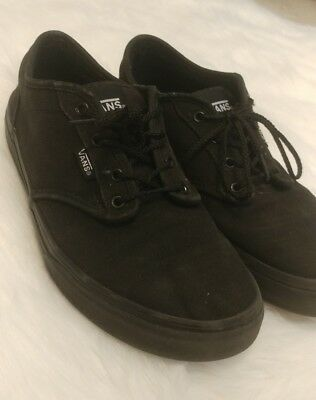 3e076f702139 ALL BLACK VANS Size 6.5 Youth 8 Womens -  13.00