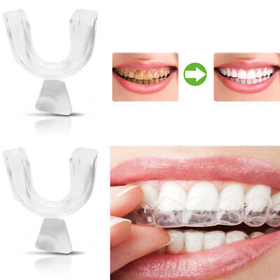 2x Silicone Night Mouth Guard For Teeth Grinding Clenching Dental Bite Sleep Aid