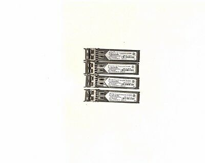 lot  4X FINISAR SFP 1000BASE-SX 4GB mini GBIC Transceiver Model FTLF8524P2BNL