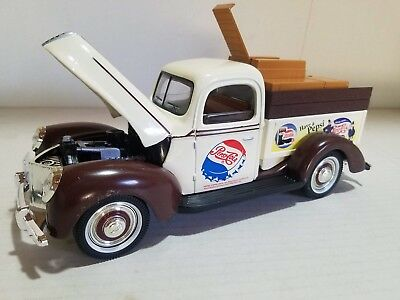 Golden Wheel Diecast 1940s Ford Pickup Pepsi-Cola Delivery Truck | Some Damage
