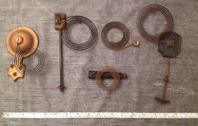 Antique Clock Gong Chimes Collection Of Five from Clockmakers Parts