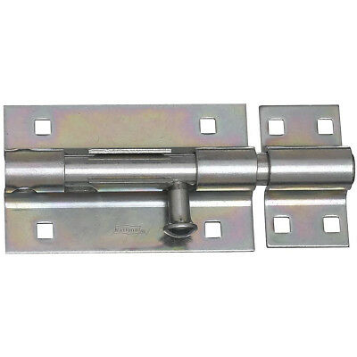 "Extra Heavy Duty Barrel Bolt 5"" Zinc Plated Steel Gate/Barn Door Latch w/Screws"
