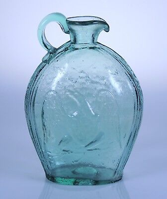 Aqua Eagle & Grape Jug Historical Flask South Jersey by Allie Clevenger in book