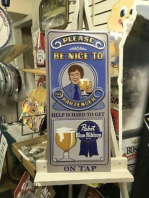 pabst blue ribbon Bartender Sign