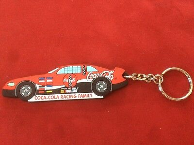 Coca-Cola Racing Family Rubber Fob Keychain - New - Nascar Official Soft Drink