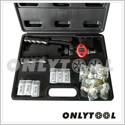 Hand Gun Riveter Kit Tool Pop Sheet Metal Threaded Nut Garage Car Jeep Nutsert