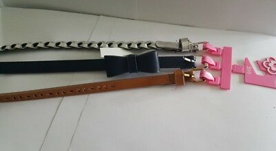 Package of Tthree New Cute Fashion Belts for Girls  Size M/L