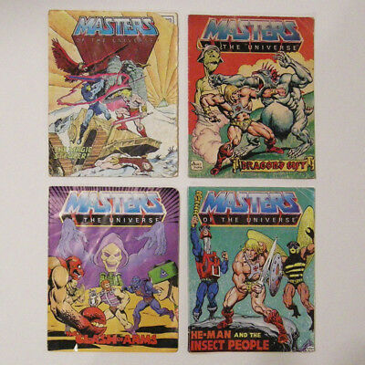 Vintage MOTU action figure mini comic book lot 1983 He-Man and the Insect People