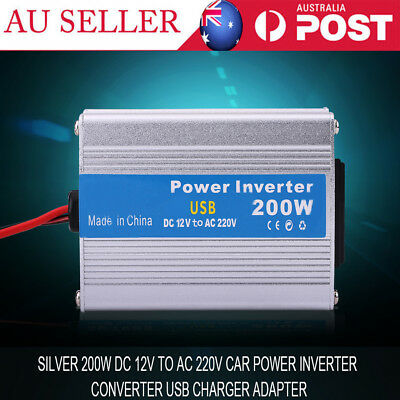 200W DC 12V to AC 220V Car Power Inverter Converter USB Charger Adapter AU SHIP