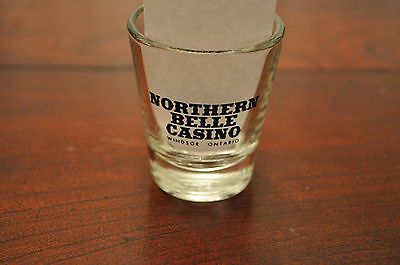 Northern Belle Casino Windsor Ontario Canada Shot  Glass Free Shipping