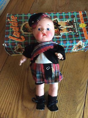 "Antique Reliable Toy Co. ""A Wee Scotch"" Composite Laddie Doll in Original Box"