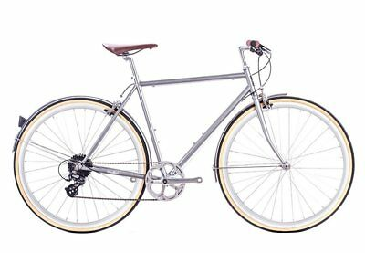 bicicletta city odyssey 8v silver brandford large 58cm 6KU Fixed Single Speed