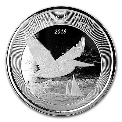 2018 St. Kitts and Nevis 1 oz Silver Pelican BU