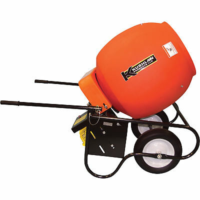 Kushlan 6 Cubic Ft. Drum Portable Gas-Powered Concrete Mixer, #600 GAS