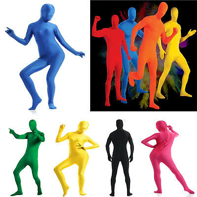Men Women Spandex Costume Zentai Lycra Body Suit Adult Morph Invisible Morphsuit