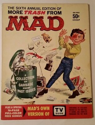 MORE TRASH FROM MAD #6 1963 ANNUAL+BONUS MAD'S Own Version of TV GUIDE VF 8.0