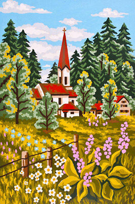 Church In The Country Landscape Tapestry To Stitch