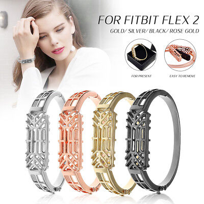 Stainless Steel Bracelet Watch Band Wrist Strap For Fitbit Flex 2 With Gift Box