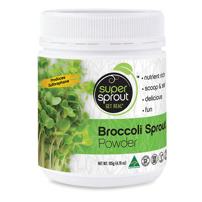 NEW Super Sprout 100% Australian Organic Pure Broccoli Sprout Superfood Powder