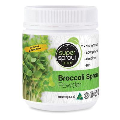 Super Sprout 100% Australian Organic Pure Broccoli Sprout Superfood Powder 135g