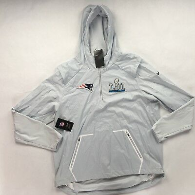 newest collection 893e9 bf6af NIKE NEW ENGLAND Patriots Super Bowl 52 LII Media Day Alpha Jacket Men's  S-XL