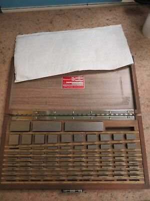 Starrett Webber - 80 piece/Square English Gage Block Set in case Grade A+ - NB6