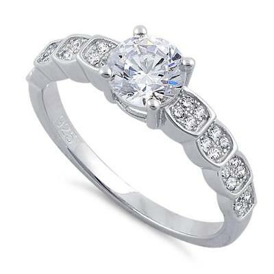 Melchior Jewellery Sterling Silver Solitaire ENGAGEMENT Round Cut Clear CZ RING
