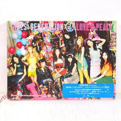 Girls' Generation (SNSD) Love & Peace Taiwan CD+Blu-ray BD w/BOX 初回限定盤 NEW