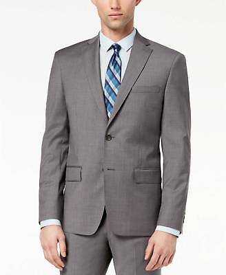 $450 DKNY men GRAY WOOL FIT TWO BUTTON SUIT JACKET BLAZER SPORTS COAT 38 R