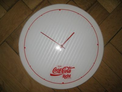 Rare True Vintage COCA COLA LIGHT Wanduhr Uhr Watch 80iger 80er 80s Wall Clock