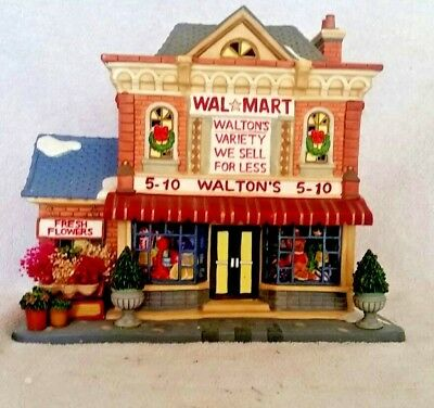 waltons 5 10 holiday time lighted porcelain christmas village store rare 2004