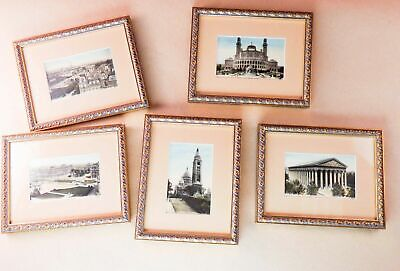Vintage French Postcards Paris 4 X 6 Matted And Framed JND hot Lot Of 5
