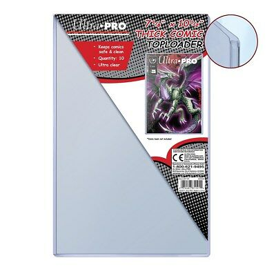 "Ultra Pro TopLoader, 7-1/2"" x 11"", Thick Comic Toploader, 10 Pack"