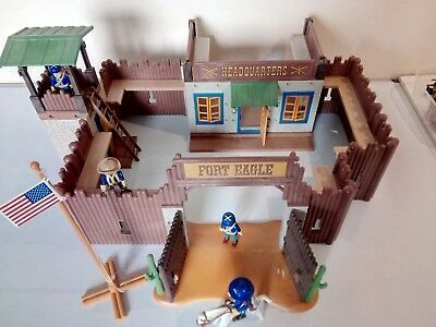 Playmobil Fort Eagle 3023 Western Fort With Figures Instructions